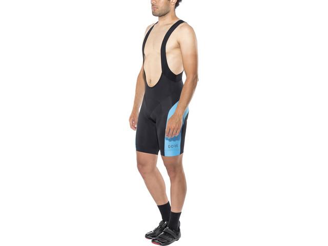 GORE WEAR C5 Bib Tights short Men black/dynamic cyan